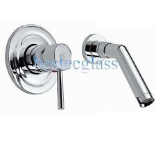 New Single Lever Wall Mounted Bath Bathroom Vessel Sink Faucet Tap Chrome Finish