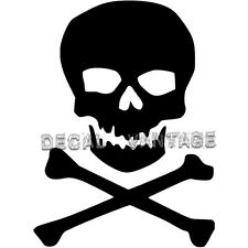 Classic Skull and Crossbones Vinyl Sticker Decal - Choose Size & Color