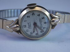 Vintage Swiss Made Ladies Wakmann Watch Co. Lourie Wristwatch 10K RGP 17 Jewels