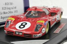 RACER - SLOT IT RCR70B FERRARI 512S LEMANS 1970 #8 NEW 1/32 SLOT CAR IN DISPLAY