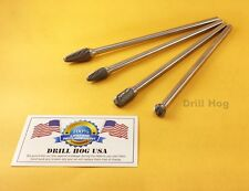 Drill Hog Tungsten Carbide Rotary Burr Set TcT Remove Burrs DeBurr USA Warranty