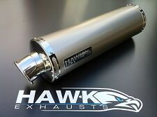 Hawk Triumph Street Triple 675 2013 + Titanium Round Exhaust Can Silencer SL