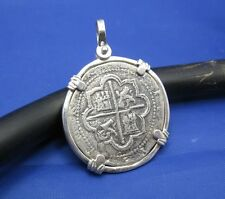 Sterling Silver Pirate Spanish 4 Reale Atocha Treasure Coin REPLICA Pendant