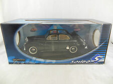 Solido Ref 8156  1954 Peugeot 203 convertible in black  Scale 1:18