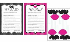 BACHELORETTE BRIDE TO BE PARTY GAME & PROPS HENS NIGHT BRIDAL HE SAID SHE SAID