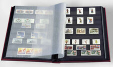Stamp Stockbook Album Lighthouse Basic 9x12 32 Black Pages Glassine Interleaves