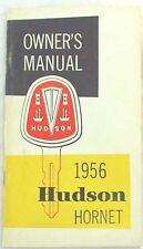 1956 HUDSON HORNET OWNERS MANUAL ORIGINAL
