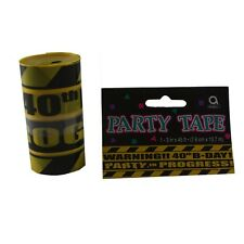 Caution 40 Party Tape 40th Birthday Turning 40 Decor