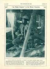 1917 glace grotte de stalactites soldat britannique hiver uniforme dans tranchées woolie