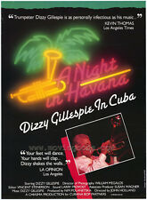 NIGHT IN HAVANA: DIZZY GILLESPIE IN CUBA Movie POSTER 27x40 Dizzy Gillespie