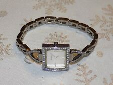 Ladies Beautiful Crystal Adorned GUESS Stainless Steel  Band Quartz Watch