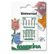 Sewing Machine Needle - Madeira Universal Sharp 75/11 - Pack 5
