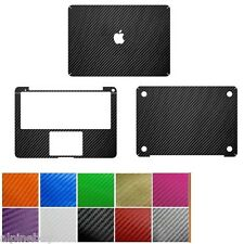 3D Textured Carbon Skin Cover Sticker Decal Wrap MacBook Air Pro 11 12 13 15