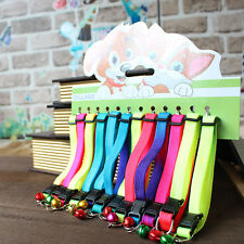 Hot Sale Cute Glossy Reflective Safety Buckle Dog Puppy Cat Collar with Bells