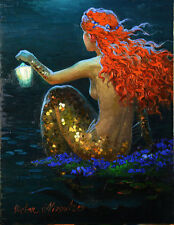 HD Print art oil painting on canvas Home Decor Wall Art 8x10inch Mermaids VN40