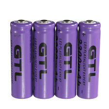 4pcs 3.7V 2300mAh 14500 AA Li-ion Rechargeable Battery For LED Flashlight S7
