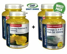 SS Evening Primrose Oil 1000mg 360 Caps & Omega 3, 6 e 9 1000mg 240 caps