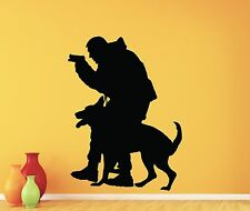 Police Officer K-9 K9 Dog Wall Decal Policeman Vinyl Sticker Decor Mural 136xxx