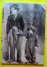 TOP CHARLY CHAPLIN stehend Kino Film Tramp Leinwand Bild OVP 50 x 70cm