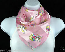 Easter Bunny Womens Scarf Basket Eggs Holiday Scarfs Gift Her Pink Scarves New
