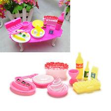10 Pcs/set Model Toys Accessories Barbies Kids Dollhouse Kitchen Supplies