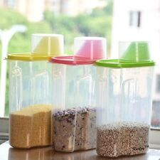 Cereal Dispenser Jar Idle For Kitchen- Storage Box Lid Food Rice Pasta Container