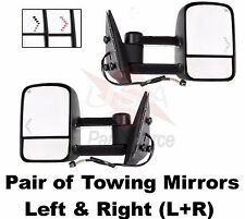 Set Towing Mirrors Power Heated LED Turn Signal Pair Direct FIT Truck Pick Up