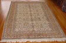 6' X 9'  Hand Knotted Tabriz India Pakistani Persian-Tabriz  Wool Oriental Rug