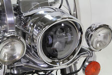 Outer Headlamp Chrome Frenched Trim Ring with Visor,for Harley Davidson motorcyc