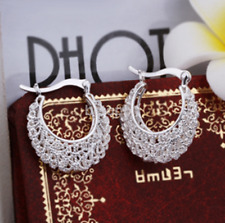 925 Silver Earrings Crystal Ear Stud Women Fashion Jewelry Gift