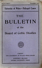DIARHEBION YM MHENIARTH -1795 DENBIGH RIOT- CELTIC STUDIES BOARD BULLETIN (1927)