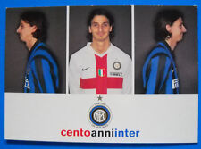 CARTOLINA UFFICIALE CALCIO INTER - 2007/08 - ZLATAN IBRAHIMOVIC - PC 7808