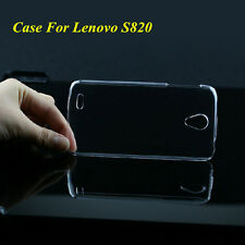 Slim Clear Crystal Glossy Transparent Hard Plastic Case Cover For Lenovo S820