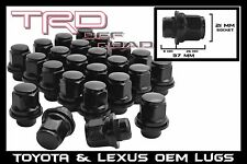 20 BLACK LEXUS TOYOTA OEM OE STOCK FACTORY WHEELS RIMS MAG LUG NUTS 12X1.5