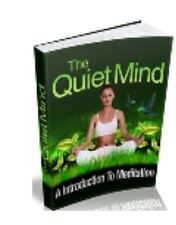 Transcendental Meditation Quiet The Mind Including Online Audio Training Book