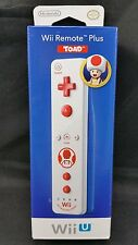 NEW Official Nintendo Wii Wii U Remote Motion Plus Controller Toad Edition White
