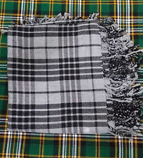 "Scottish Men's Kilt FlyPlaid Grey Watch Tartan /Grey Watch Kilt FlyPlaid 48""X48"""