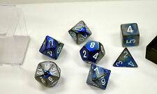 Dungeons & Dragons Fantasy 16mm 7 Piece Dice Set: Gemini Blue Steel 26423