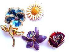 Joan Rivers Changeable Flower Pin Brooch