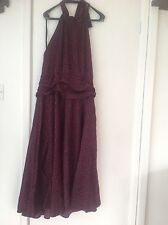 NEW, PAPAYA,  HALTER NECK, SILKY DRESS, SIZE 18, LONG LENGTH