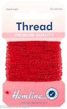 10m Glitter Metallic Thread  Choice of 15 Colours Gold Silver Red Blue & More