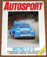 Autosport 2/10/86* JAPANESE GROUP C FEATURE - QUIP RALLY - LE MANS F3000