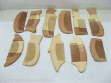 12 Bulk New Unscented Natural Wooden Hair  Combs