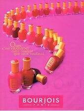 PUBLICITE ADVERTISING 025  1996  Les vernis à ongles BOURJOIS