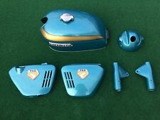 1969-70 Cb Cb750 K0 Candy Blue Green Painted SANDCAST Tank Covers Ears HC-16-501