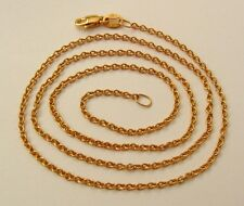 GENUINE SOLID 9ct YELLOW GOLD FINE CABLE CHAIN NECKLACE with PARROT CLASP 45 cm