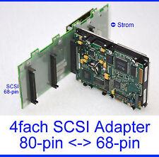ADAPTER-SCSI UW 68PIN -  4x80PIN SCSI SCA HOTSWAP BACK PLANE 68PIN 80PIN -17