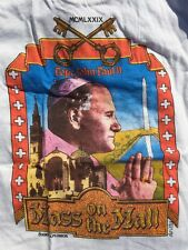 RARE Vtg 70s 1979 Pope John Paul II Mass On The Mall T-shirt Youth Large USA