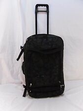 DCSHOEcoUSA Black Soft Rolling Luggage with extendable Handle, some defects 6056