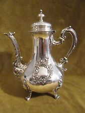 1900 french sterling silver (minerve 950) coffee pot rococo st 591gr 20,8oz